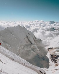 """An image from the film """"Lhotse,"""" about skiing down the mountain of the same name, available for viewing online starting Feb. 26."""