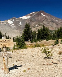 View of South Sister from the Green Lakes Trail in the Three Sisters Wilderness on the Deschutes National Forest in Oregon's Cascades.