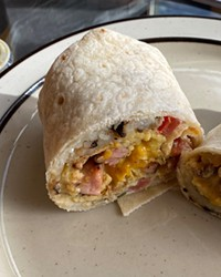 There's something about the hash browns in Burrito Sunrise's breakfast burritos that is utterly delightful.