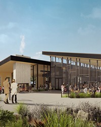 This rendering shows the bright light ambience that awaits patrons at The Grove.