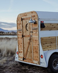 Gather Sauna House is a tiny little woodfired mobile sauna that brings wellness on the road.
