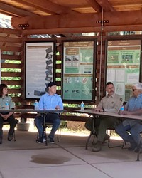 Senator Ron Wyden joins federal and state firefighting officials to discuss the wildfire season in Central Oregon.