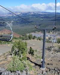 The views are different riding down Pine Marten ski lift in the summer months.