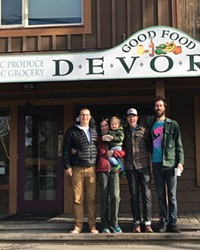Dylan Rudloff, Hailey Garside, Aaron Talbot and Clint Rowan expect to have the Humble Beet open by the end of April..