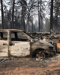 Aftermath from the Camp Fire in Paradise, Calif.