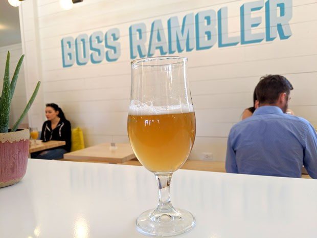 "Broh? Brah! —a ""West Coast-ish"" IPA at Boss Rambler Beer Club. - HEIDI HOWARD"