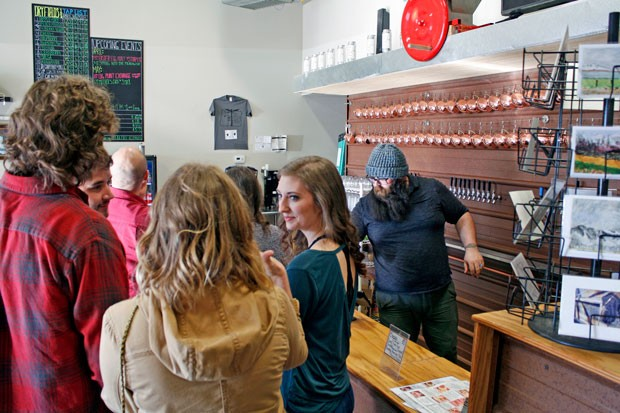 Dry Fields Cider has an impressive selection of ciders–including several spicy options that were a hit with this crowd. - KEELY DAMARA