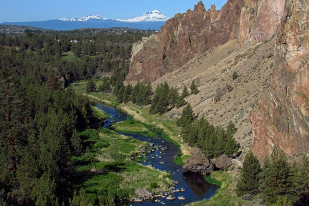 The Crooked River flowing through Smith Rock. - JEFF HOLLET