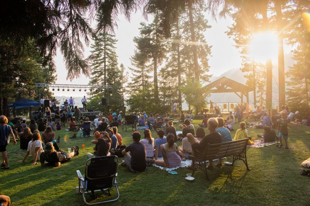 Music lovers take in an intimate lakeside evening performance at the scenic Suttle Lodge. - SUTTLE LODGE