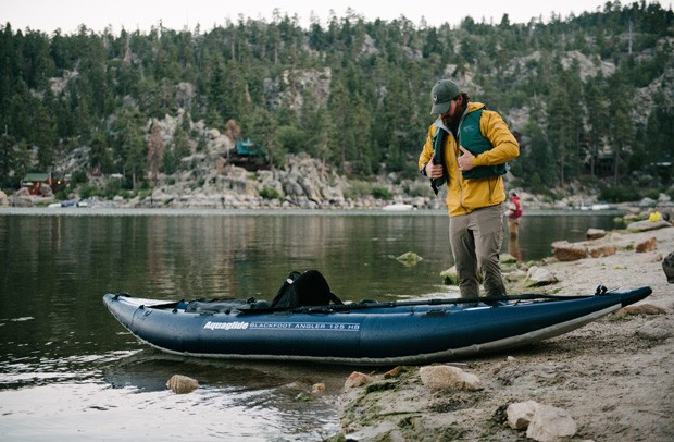 Black Foot Angler inflatable kayaks by Aquaglide are great for high desert fishing and exploring Bend waterways. - SUBMITTED