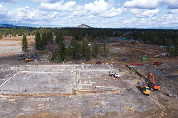 Making progress: construction continues at Bend's new high school. - COURTESY BEND-LA PINE SCHOOLS