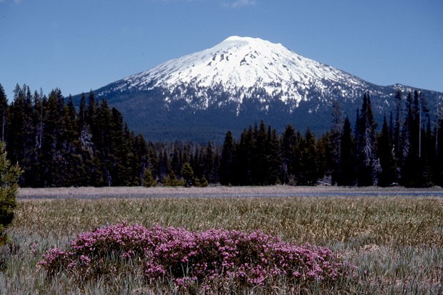 Beautiful Bachelor Butte, or if you prefer, Mt. Bachelor; either way, it's a sleeping volcano. - JIM ANDERSON