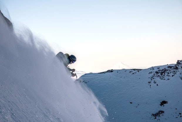 Mason Lacy skis on Broken Top during excellent conditions (unlike those discussed in this article). - GRAHAM ZIMMERMAN