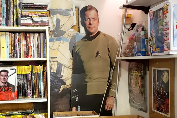 Cardboard cut-outs for the Cool Nerd in your life, found at Pegasus Books in downtown Bend. - CAYLA CLARK