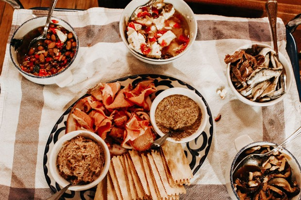 A spread from the recent Alpine dinner at 