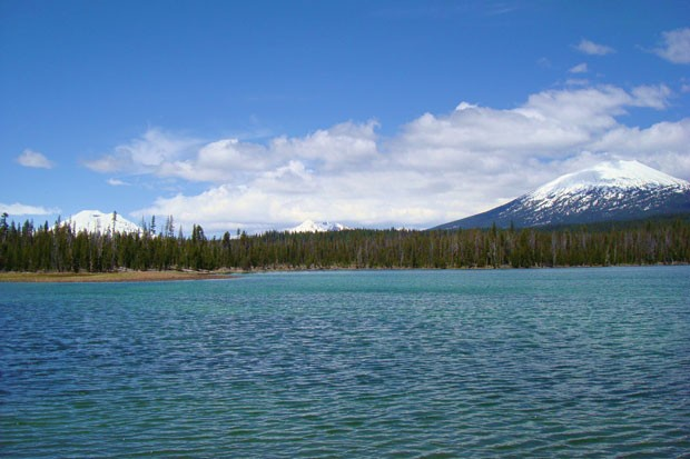Mt. Bachelor seen from across Lava Lake. - WIKIMEDIA COMMONS