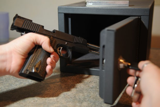 """The Oregon gun safety activist group, State of Safety Action, wants to put gun storage regulations on the November ballot. But Oregon House Democrats might beat them to it. They've introduced HB 4005 for the """"short"""" session, which—if enacted—would require gun owners to store their firearms in a locked container and engage a trigger lock on their weapon when it's not on their person. - U.S. AIR FORCE PHOTO/TECH. SGT. THOMAS DOW"""