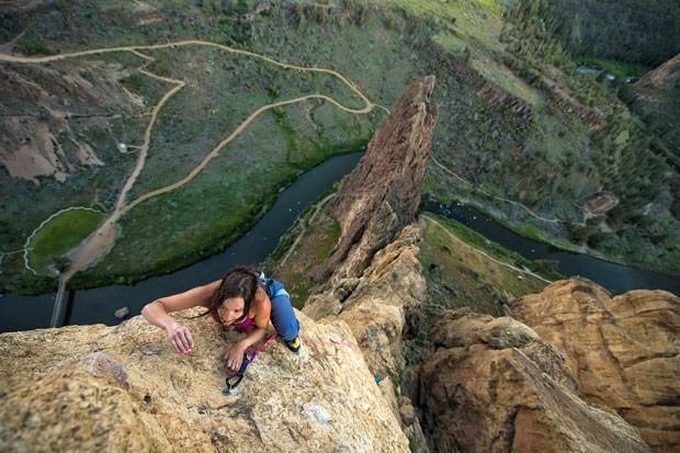 Lizzy VanPatten takes her longtime love of rock climbing to new heights. - FREYA FENNWOOD