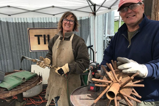 Phil and Marianne Prodehl teamed up to create at Trashformations 2019. - COURTESY MARIANNE PRODEHL