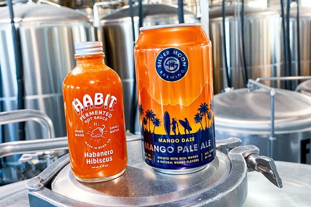 Silver Moon's Mango Daze Pale Ale gets paired with Habit's Habanero Hibiscus. - PHOTO SUBMITTED
