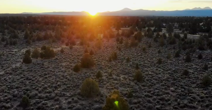 The 382-acre parcel of land that just sold to Bend developers was a popular spot for jogging and dog walking. - SCREENSHOT VIA CUSHMAN & WAKEFIELD YOUTUBE CHANNEL