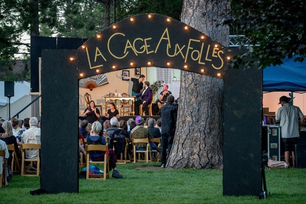 Les Cage Aux Folles at Drake Park, in more theatre-friendly times. - CAROL STERNKOF