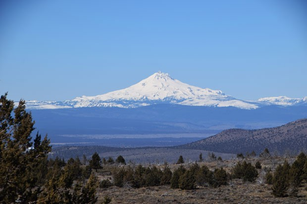 Mountain views abound along the trail while hiking around Gray Butte. - ISAAC BIEHL