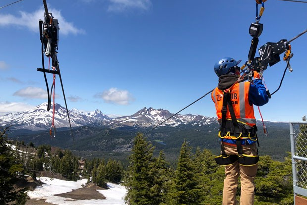 Field trip to Mt. Bachelor's zip line! The views are OK, I guess. - NICOLE VULCAN