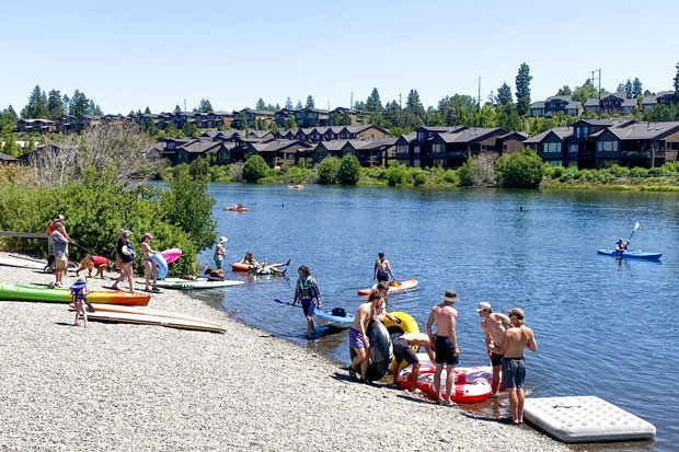 Even as COVID-19 cases continue to rise in Deschutes County, Riverbend Park was crowded with floaters and kayakers Monday afternoon. - KYLE SWITZER
