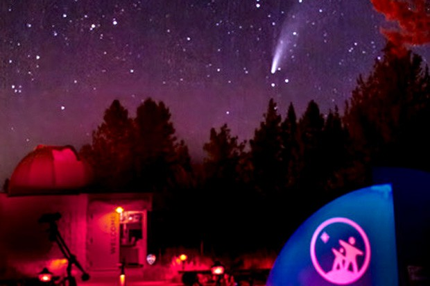 Comet NEOWISE at the Oregon Observatory. - MARCUS SCHWING