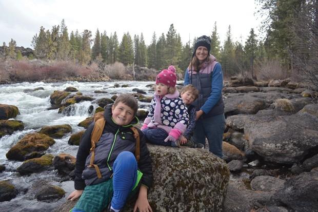 Heather Bussman with her children, Carlo, Nora and Gus. - MATT BUSSMAN