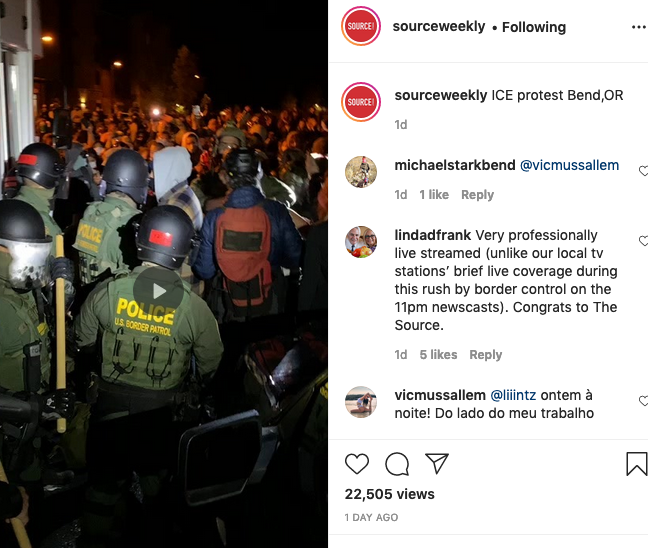The final tense moments of the standoff between protesters and U.S. Border Patrol police is captured in this 30+ minute video. - SOURCE WEEKLY