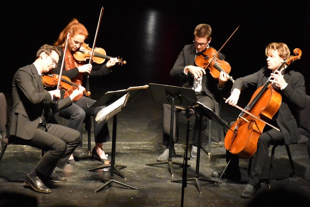 Crown City String Quartet & Friends performing a past show at the Tower Theatre. - COURTESY HIGH DESERT CHAMBER MUSIC
