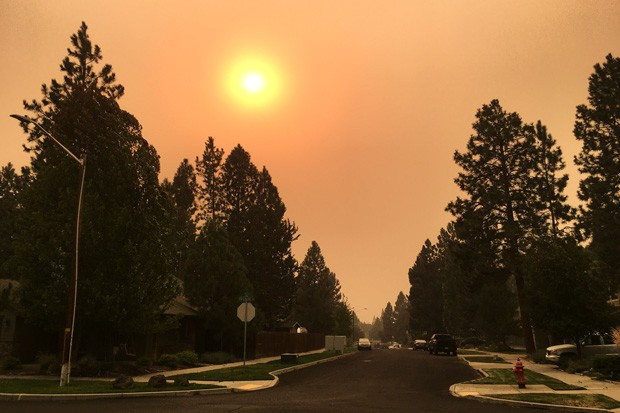 Oregon is on fire, and that means poor air quality and lots of smoke for many communities around the state, including this shot from Bend Monday. On Tuesday, Gov. Kate Brown invoked the Emergency Conflagration Act in response to the Beachie Creek and Lionshead fires in the Santiam Canyon and Jefferson County, and the Holiday Farm Fire near McKenzie Bridge—fires that saw significant spread due to heavy winds. - DARRIS HURST
