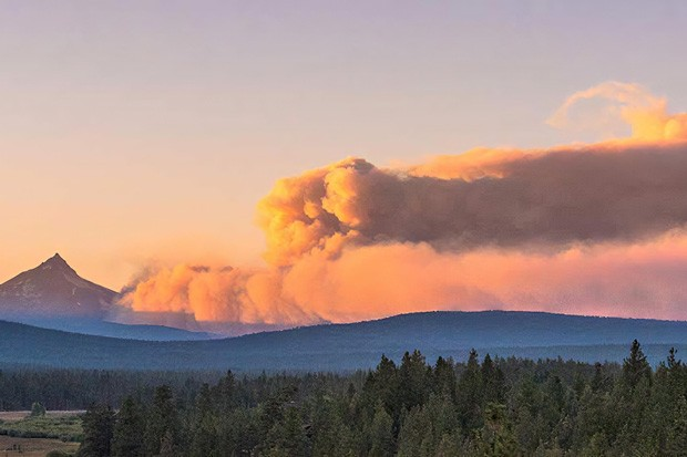The Lionshead Fire near Warm Springs reached 148,000 acres by Tuesday morning and was 5% contained. It merged with the Beachie Creek Fire this weekend. People in the Sidwalter Flats area on the Warm Springs Reservation are now on a Level 2 evacuation notice. - COURTESY THE NUGGET NEWSPAPER BY KRIS KRISTOVICH