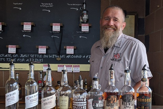 Check out this tasting lineup and get schooled by Rick Molitor at New Basin Distillery. - HEIDI HOWARD
