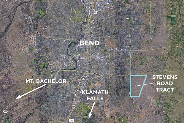 An aerial map of the Stevens Road Tract. - CUSHMAN & WAKEFIELD