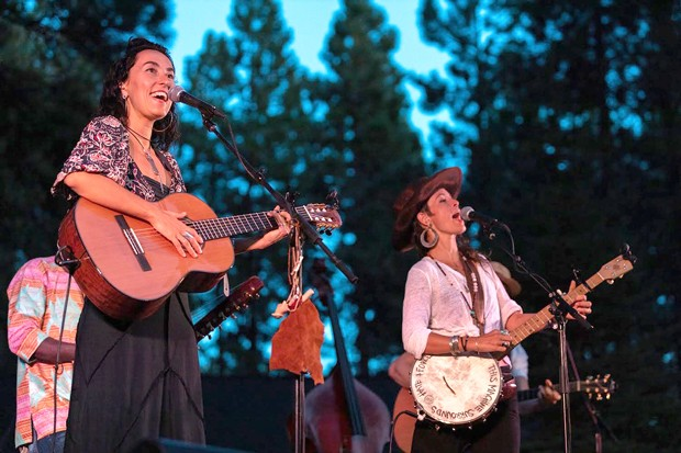 Rising Appalachia performs on the Five Pine stage at a past Sisters Folk Festival. - ROB KERR