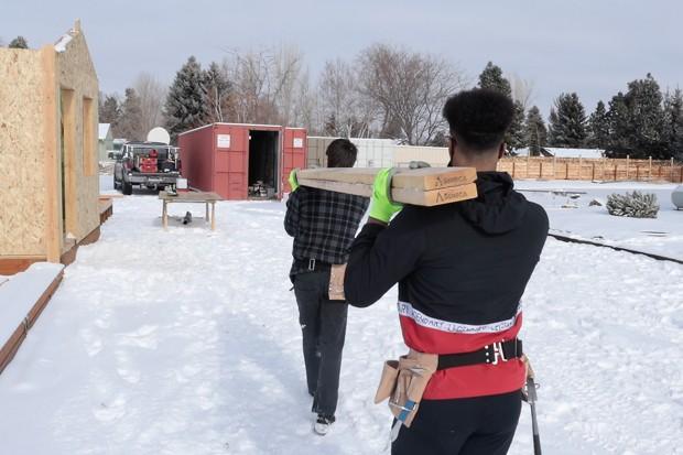 Students starting construction at J Bar J in northeast Bend. - DARRIS HURST