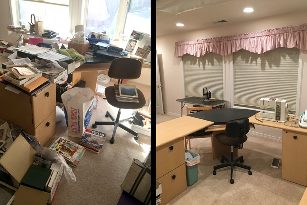 Jean helped clear a client's craft room, allowing the client to stop using the room as a dumping ground and to actually get creative in the space. - MELISSA JEAN