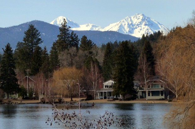 The classic shot: The Three Sisters mountains from the shores of Mirror Pond. - IAN POELLET / WIKIMEDIA COMMONS