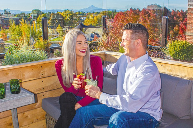 SCP Hotel Redmond offers amazing views from its rooftop bar. - DARRIS HURST