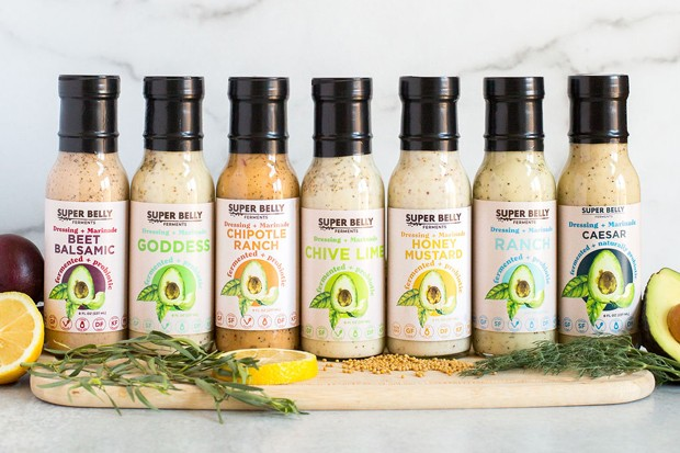 Look for this assortment of salad dressings at your favorite local store. - COURTESY SUPER BELLY FERMENTS