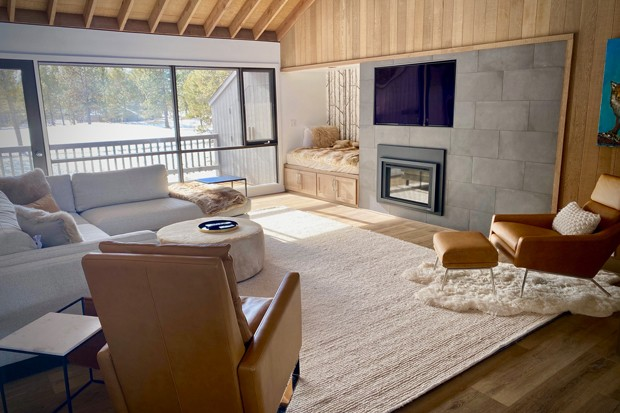 Multiple textures like wallpaper, stone tile, wood flooring and custom cabinetry are used by Hank Hill, founder and owner at Bend Craftsmen Company, in remodels and new builds to create compelling and catchy contrast. - COURTESY HANK HILL