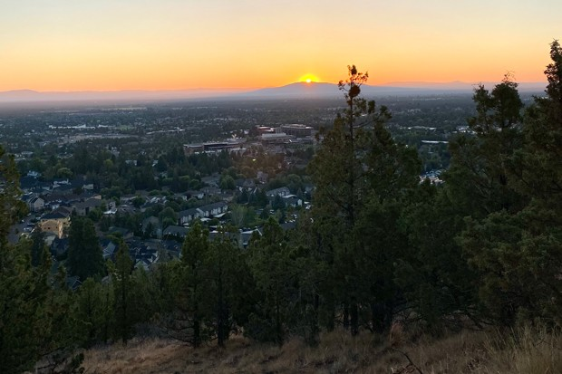 This impressive view, from the top of Pilot Butte, requires only a quick in-town hike to the top. - MEGAN BURTON