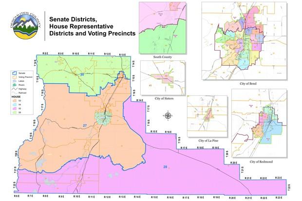Deschutes County map — Oregon Senate and House districts in Deschutes County. - BY DESCHUTES COUNTY