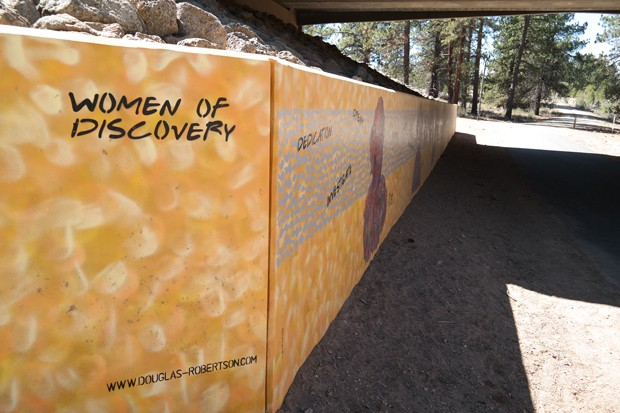 """The mural """"Women of Discovery"""" was painted by local artist Douglas Robertson and is the start of Outback Trail at the undercrossing beneath the Skyline Ranch Road bridge. - COURTESY BEND PARKS AND REC."""