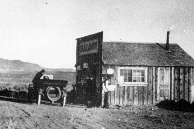 The Richmond Saloon, which is no longer standing. - BOWMAN MUSEUM