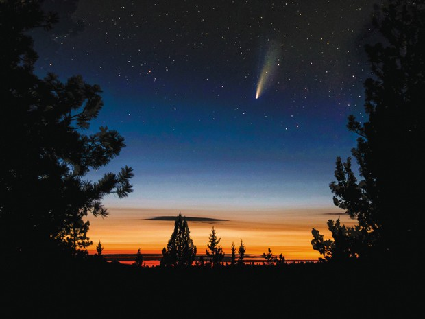 Comet Neowise in the Western Sunset - JOHN NAITOVE
