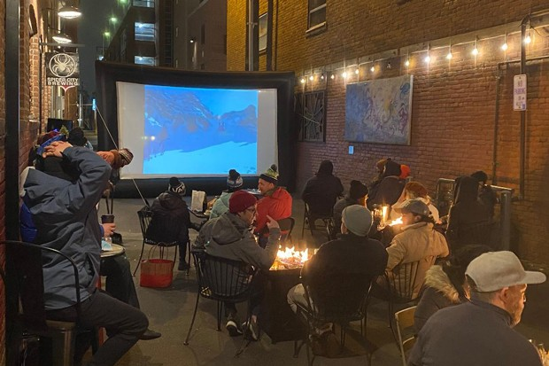 One of the many alley screenings put together by Tin Pan and BendFilm, in cooler times. - JARED RASIC